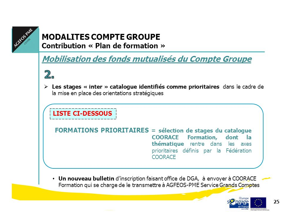 2. MODALITES COMPTE GROUPE