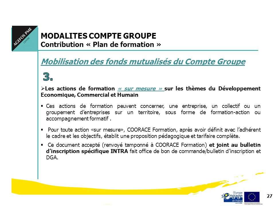 3. MODALITES COMPTE GROUPE