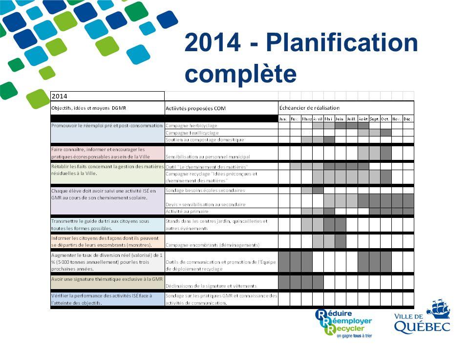 2014 - Planification complète