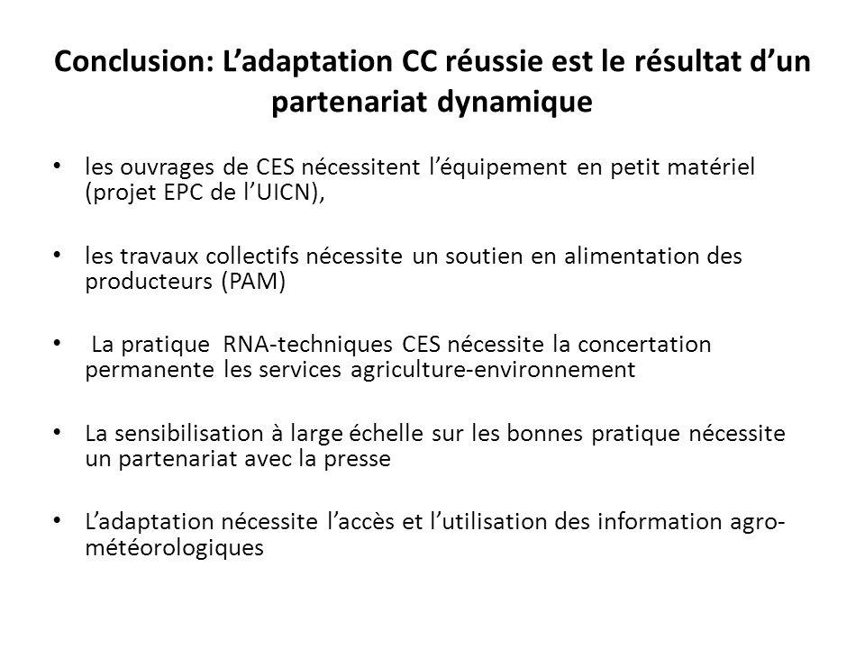 Conclusion: L'adaptation CC réussie est le résultat d'un partenariat dynamique
