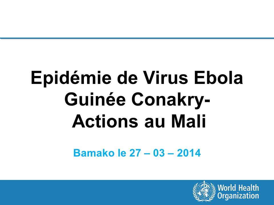 Epidémie de Virus Ebola