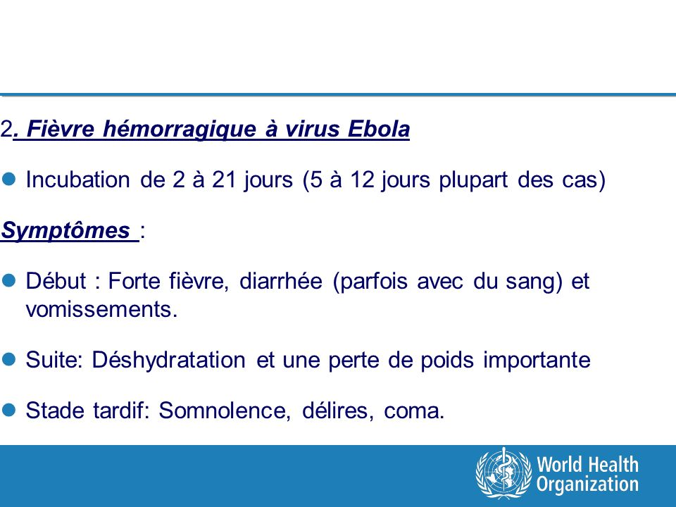 2. Fièvre hémorragique à virus Ebola