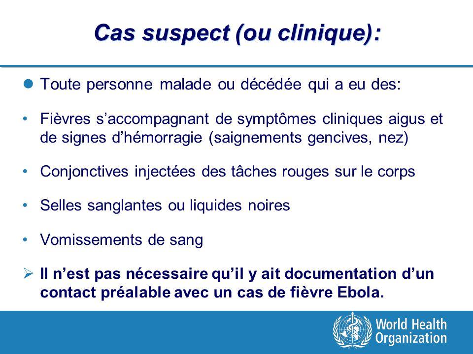 Cas suspect (ou clinique):