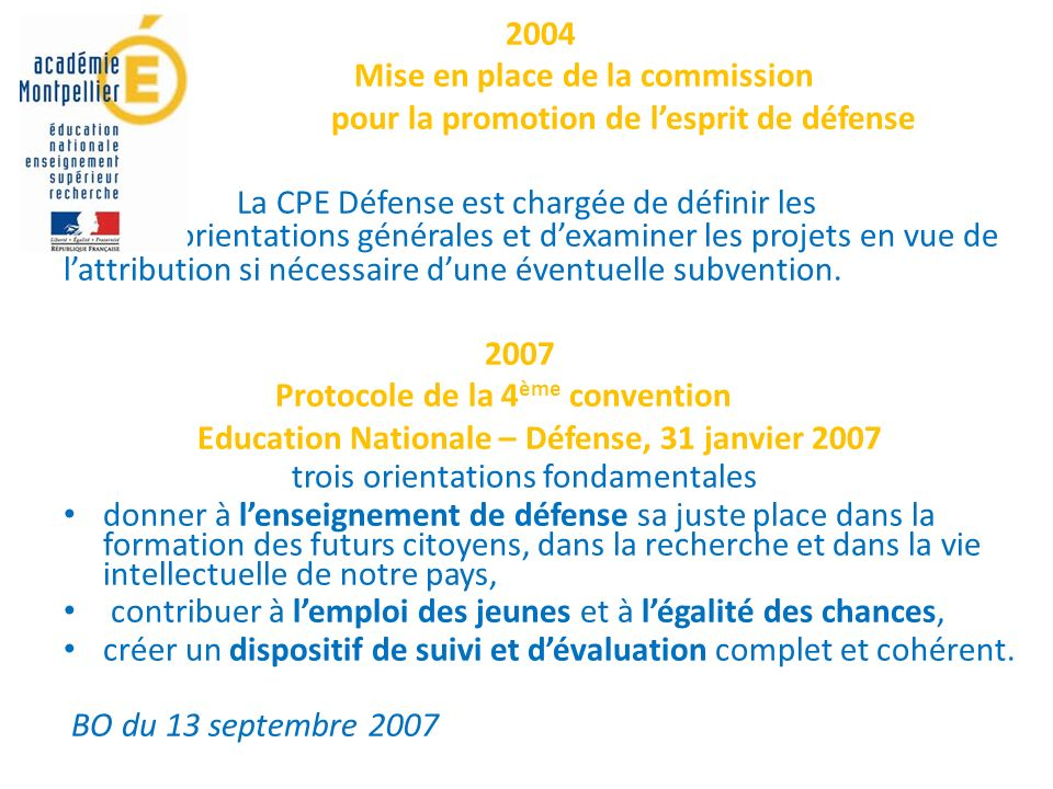 Mise en place de la commission