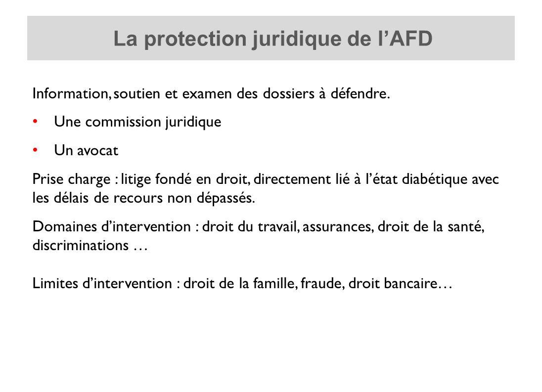 La protection juridique de l'AFD