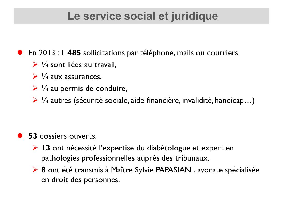 Le service social et juridique de l'AFD