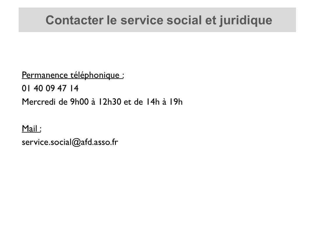 Contacter le service social et juridique