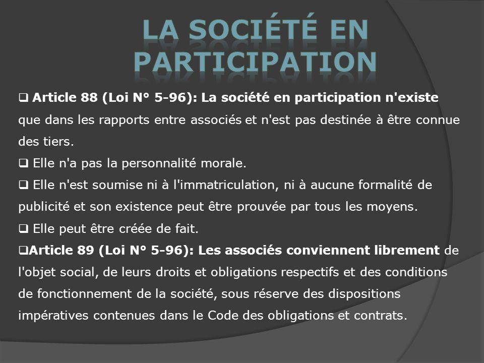 La société en participation