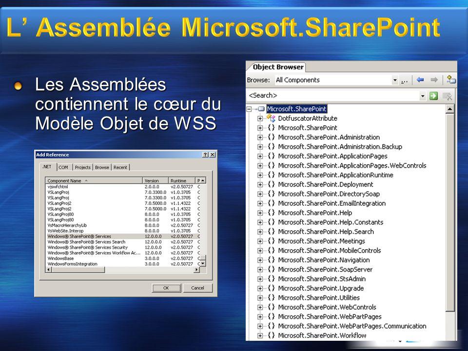 L' Assemblée Microsoft.SharePoint
