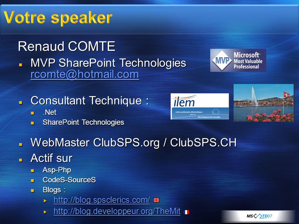 Votre speaker Renaud COMTE