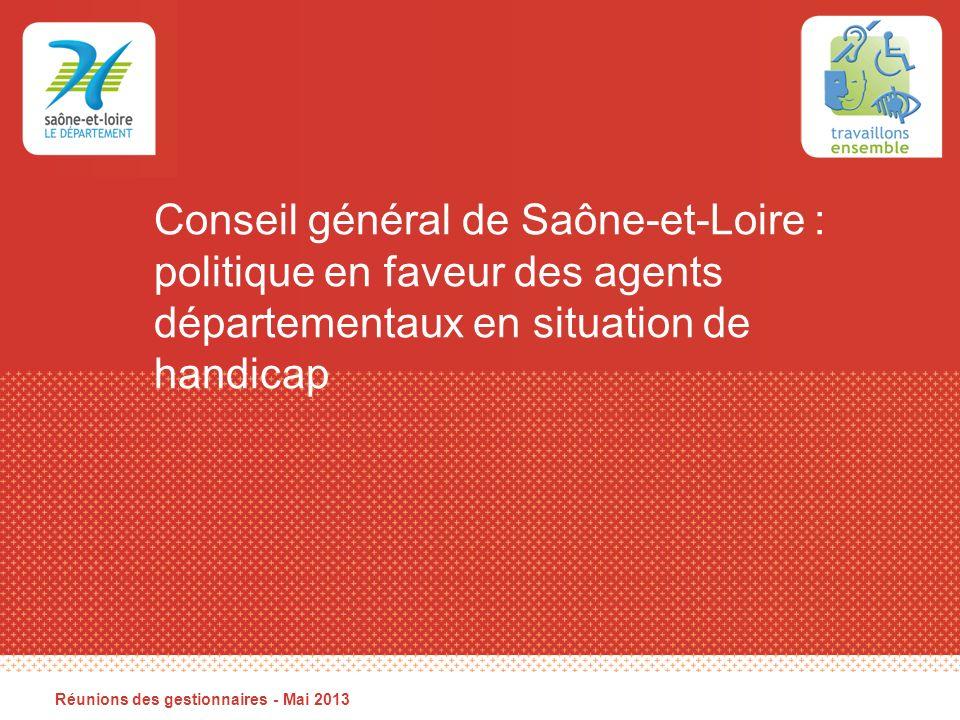 Conseil général de Saône-et-Loire : politique en faveur des agents départementaux en situation de handicap