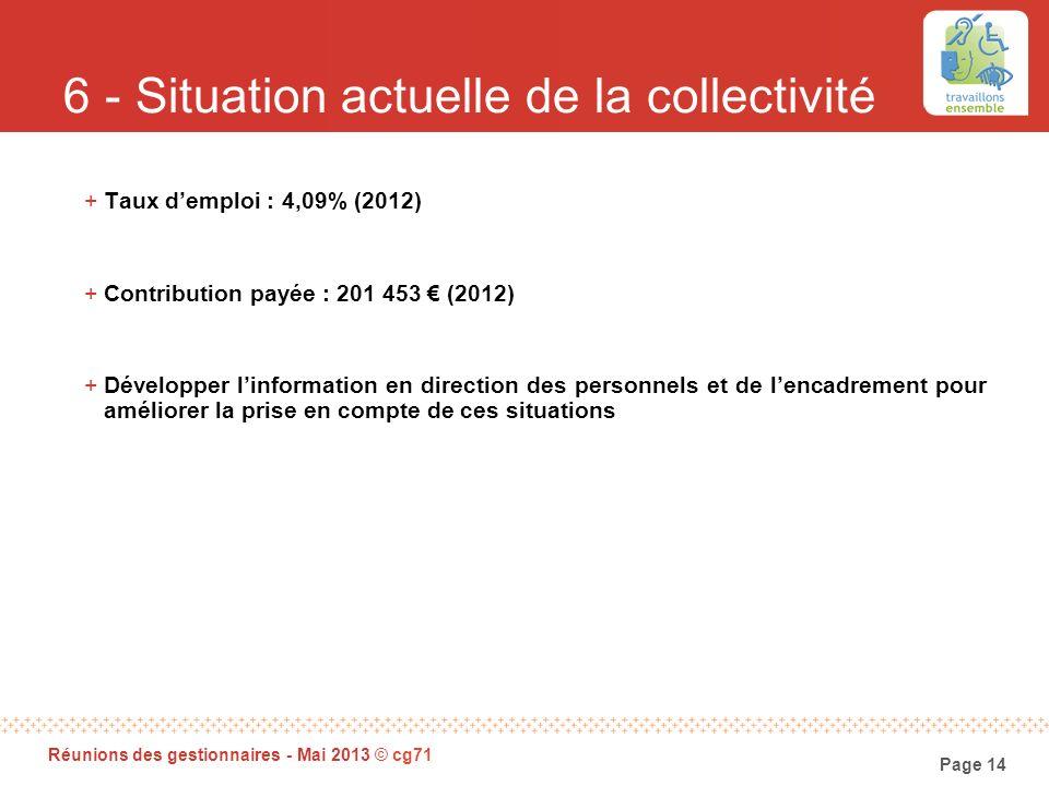 6 - Situation actuelle de la collectivité