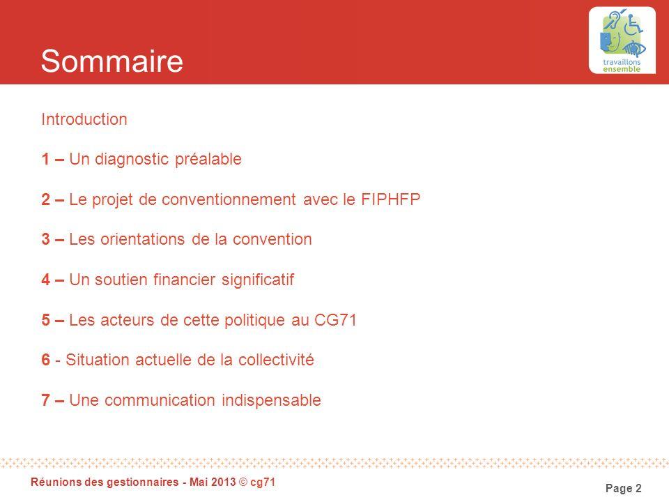 Sommaire Introduction 1 – Un diagnostic préalable