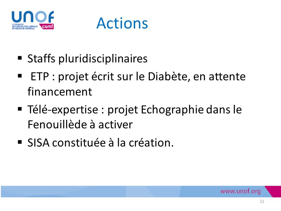 Actions Staffs pluridisciplinaires