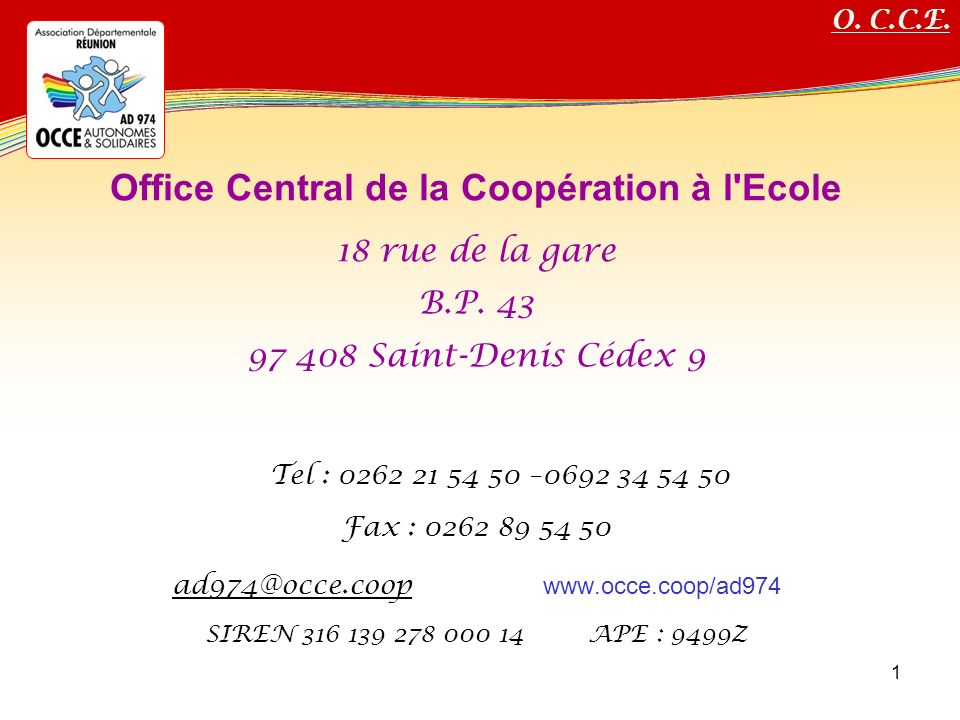 Office Central de la Coopération à l Ecole