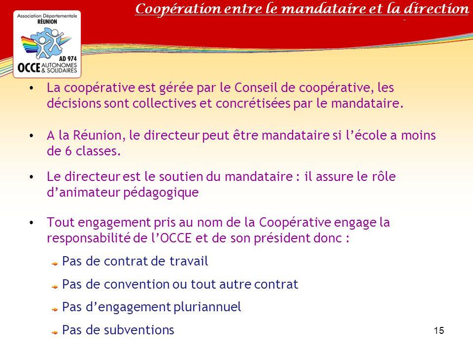 Coopération entre le mandataire et la direction