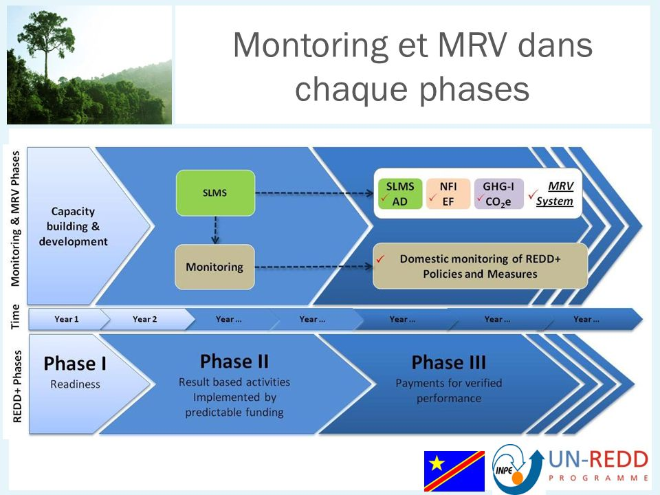 Montoring et MRV dans chaque phases