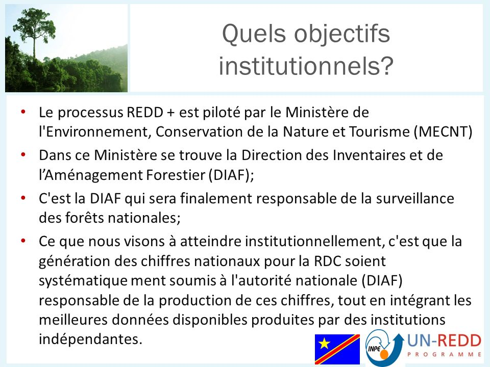 Quels objectifs institutionnels