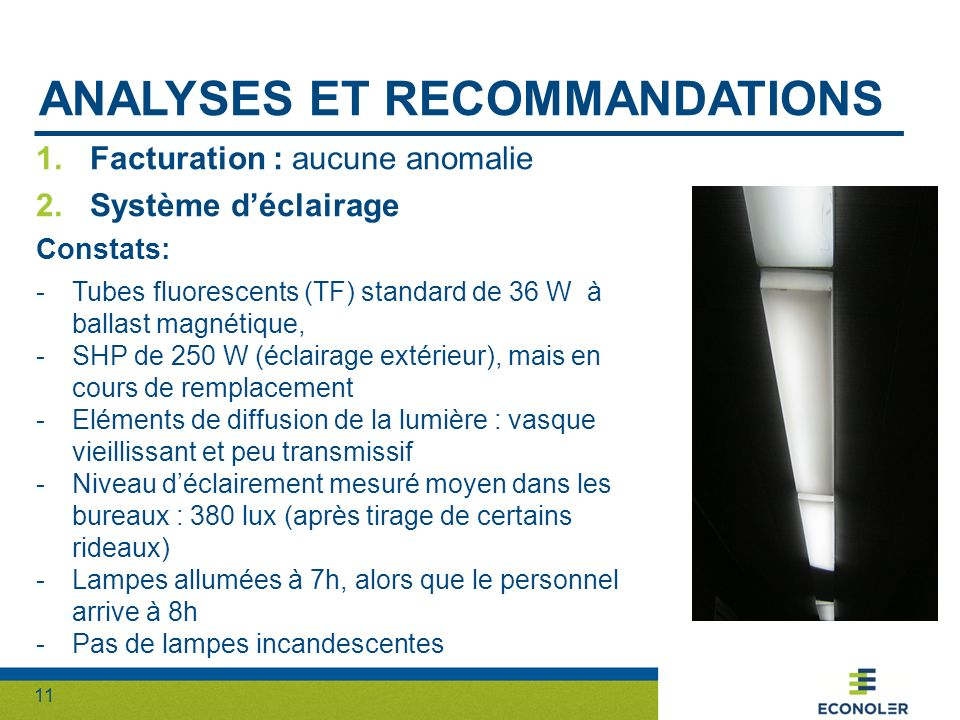 Analyses et recommandations
