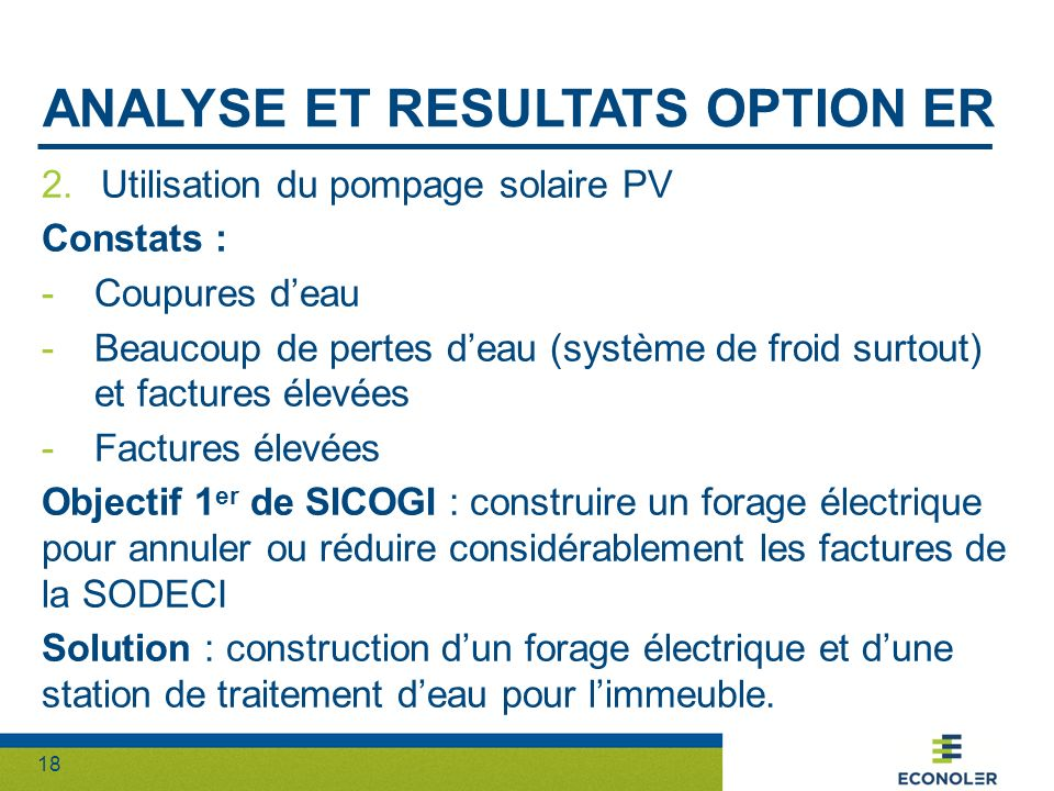 Analyse et resultats option ER
