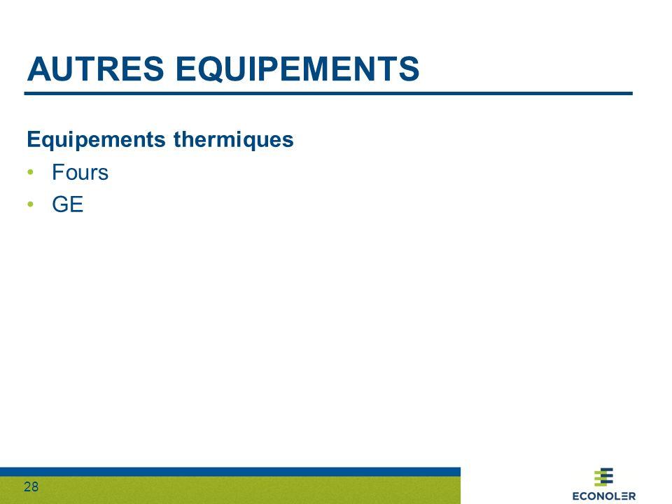 Autres equipements Equipements thermiques Fours GE