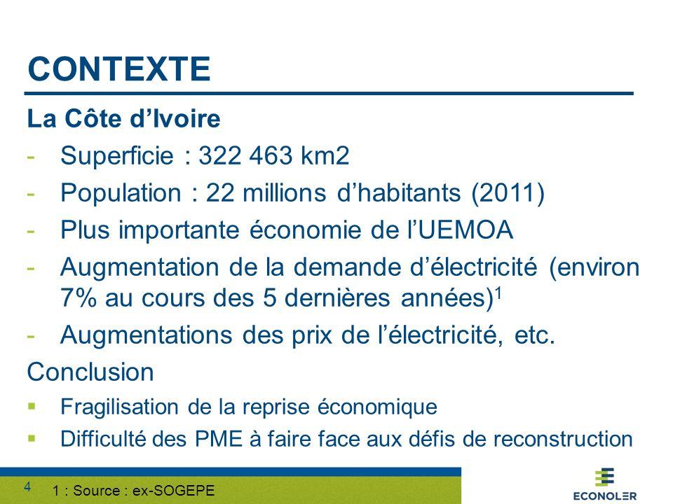contexte La Côte d'Ivoire Superficie : 322 463 km2