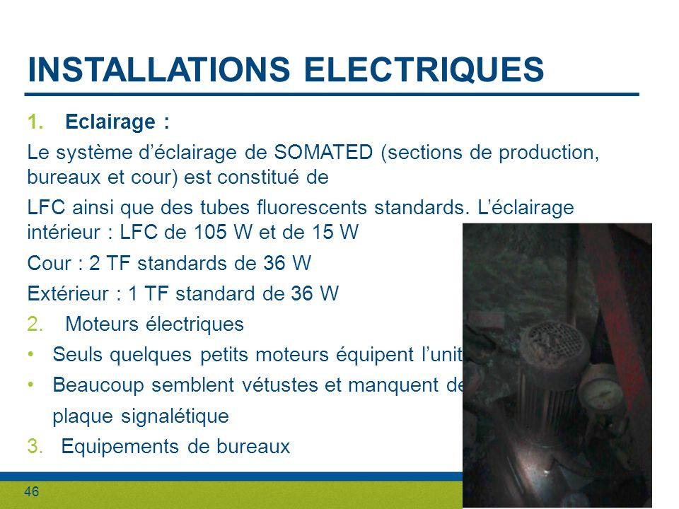 INSTALLATIONS ELECTRIQUES