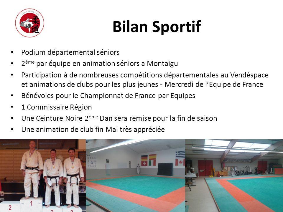 Bilan Sportif Podium départemental séniors