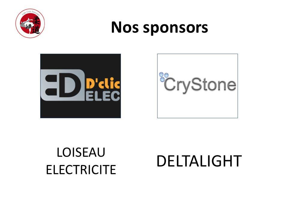 Nos sponsors LOISEAU ELECTRICITE DELTALIGHT