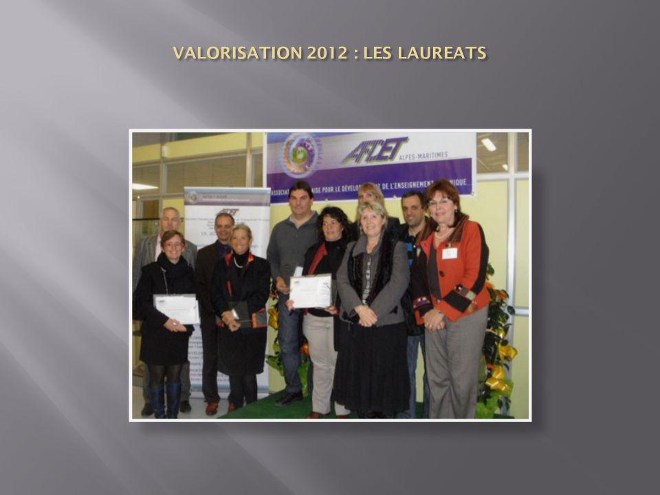 VALORISATION 2012 : LES LAUREATS