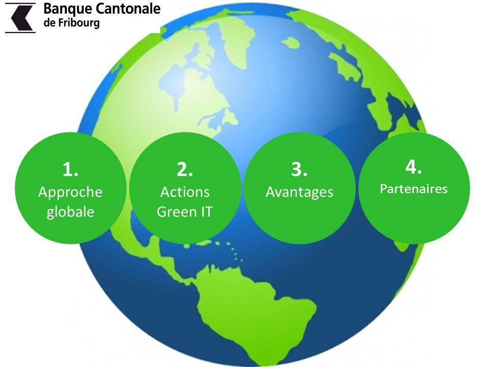 1. Approche globale 2. Actions Green IT 3. Avantages 4. Partenaires