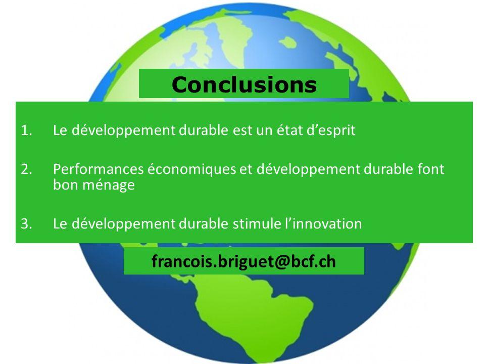 Conclusions francois.briguet@bcf.ch