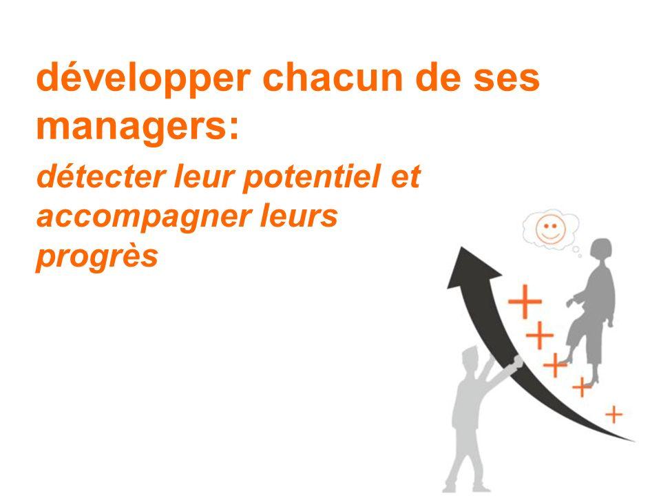 développer chacun de ses managers: