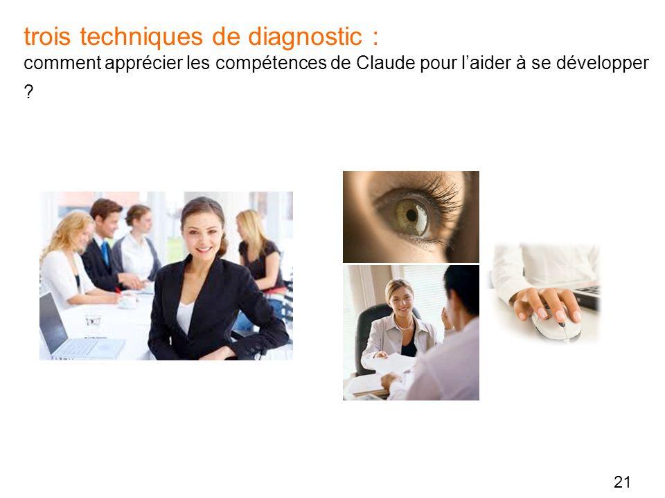 trois techniques de diagnostic : comment apprécier les compétences de Claude pour l'aider à se développer