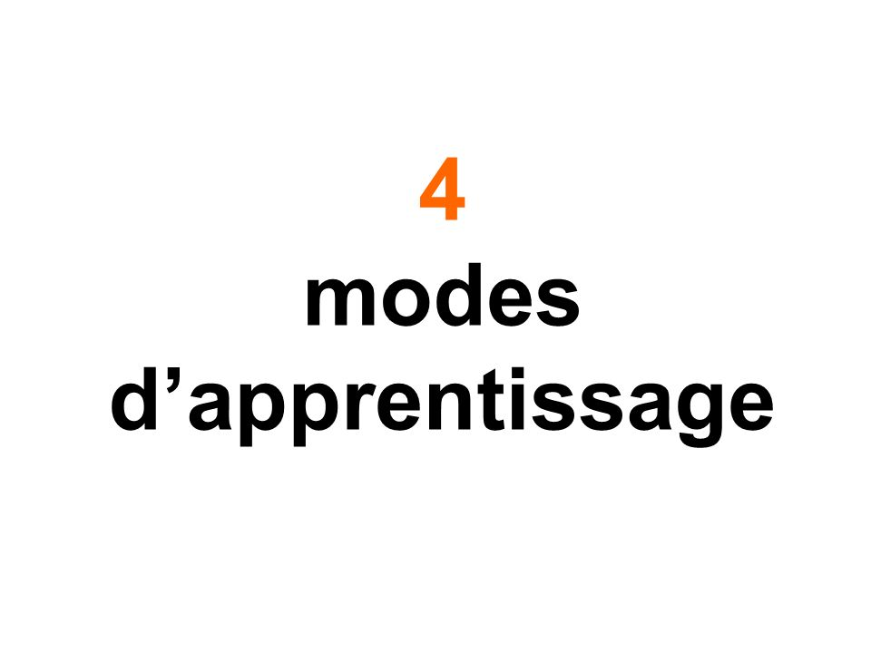 4 modes d'apprentissage