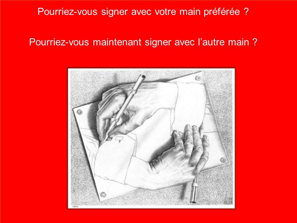 Pourriez-vous signer avec votre main préférée