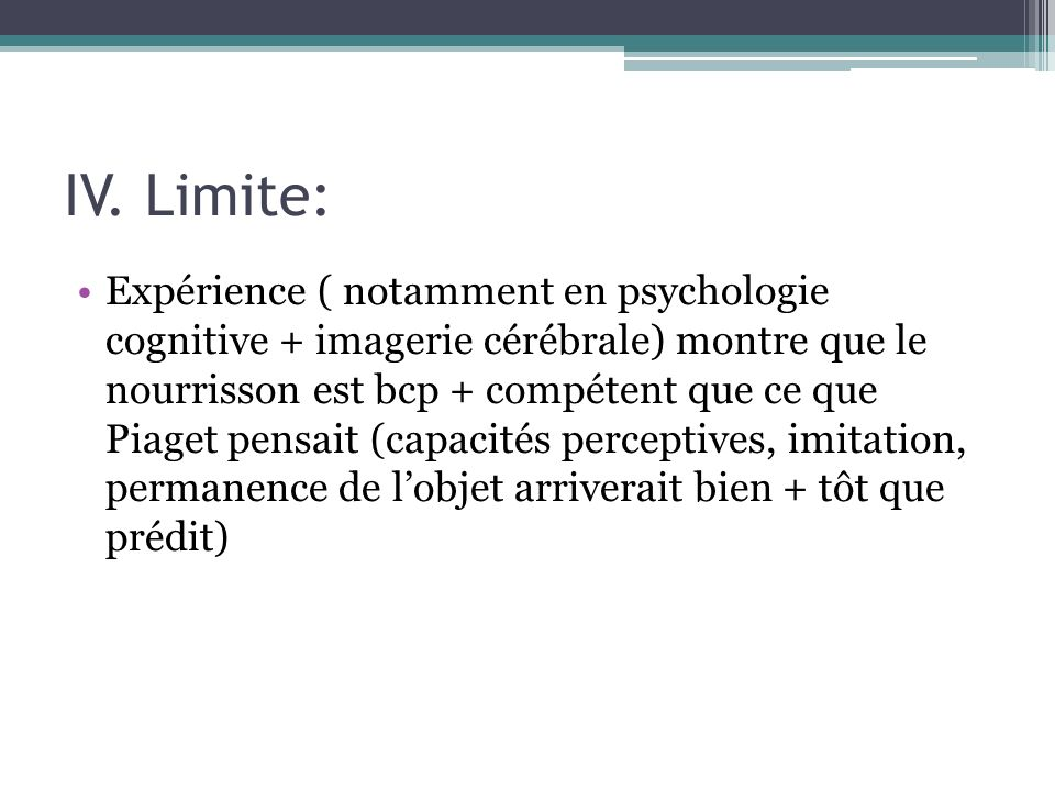 IV. Limite: