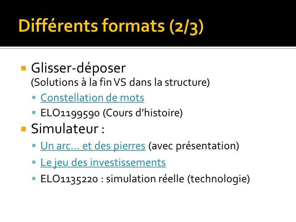 Différents formats (2/3)