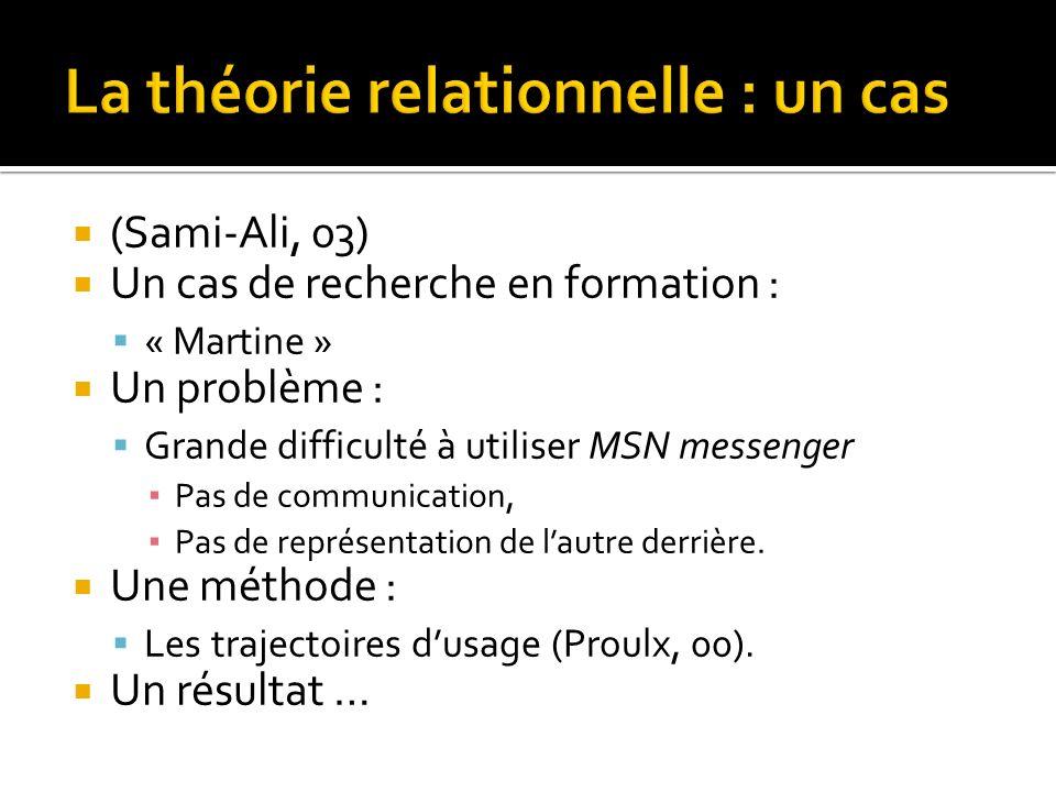 La théorie relationnelle : un cas