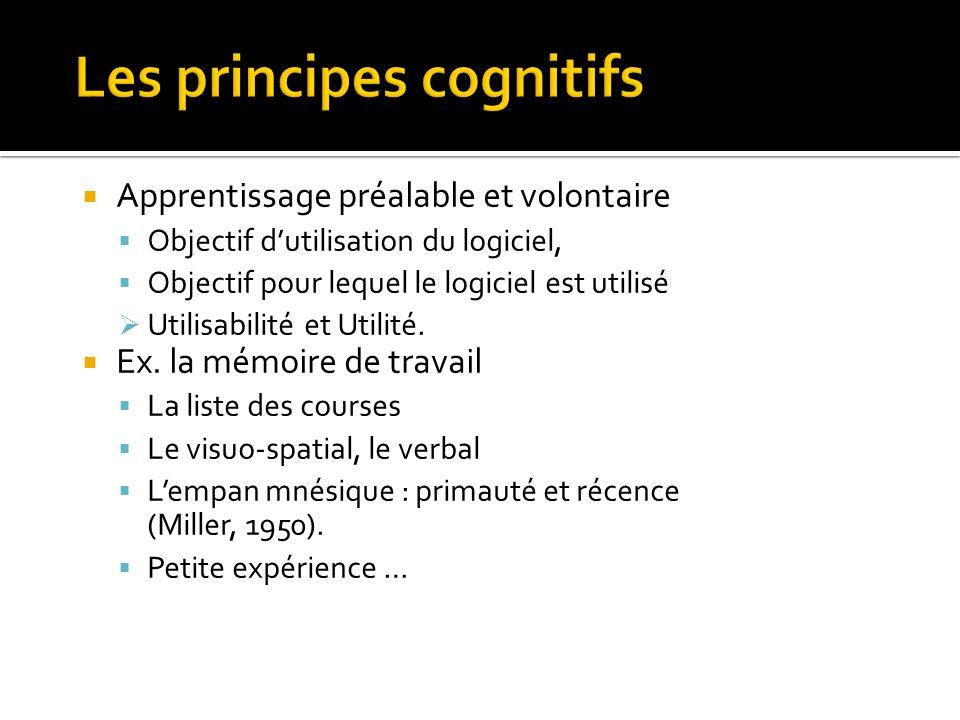Les principes cognitifs