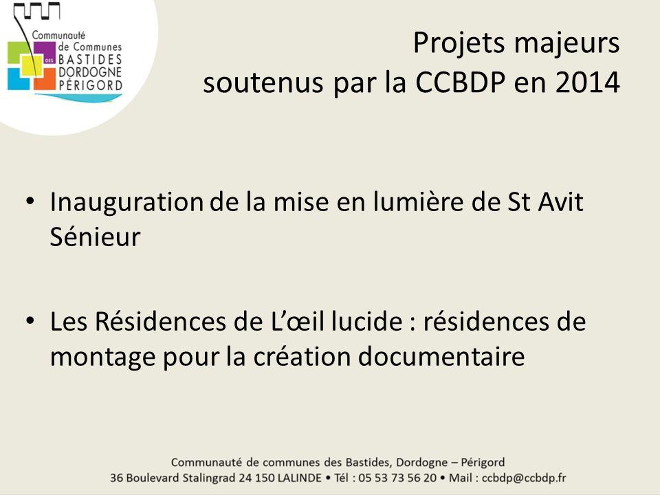 Projets majeurs soutenus par la CCBDP en 2014