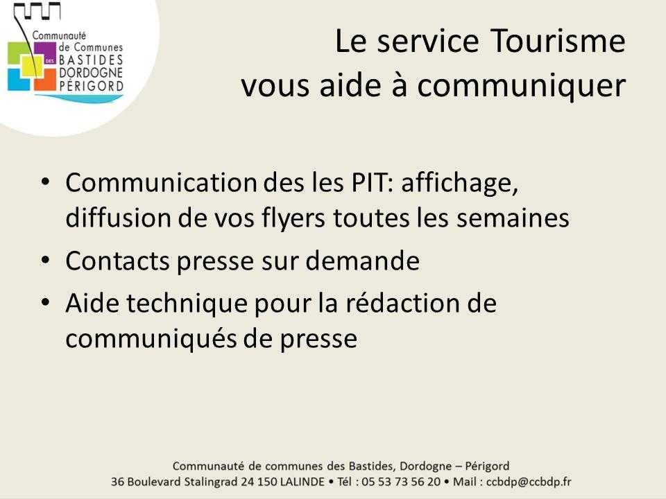Le service Tourisme vous aide à communiquer