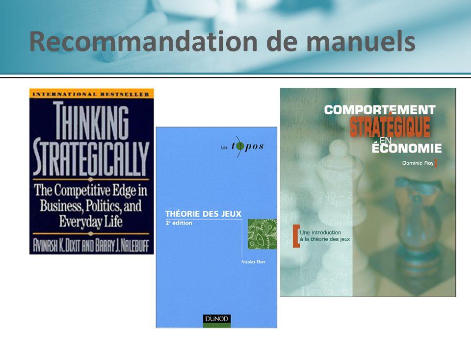 Recommandation de manuels