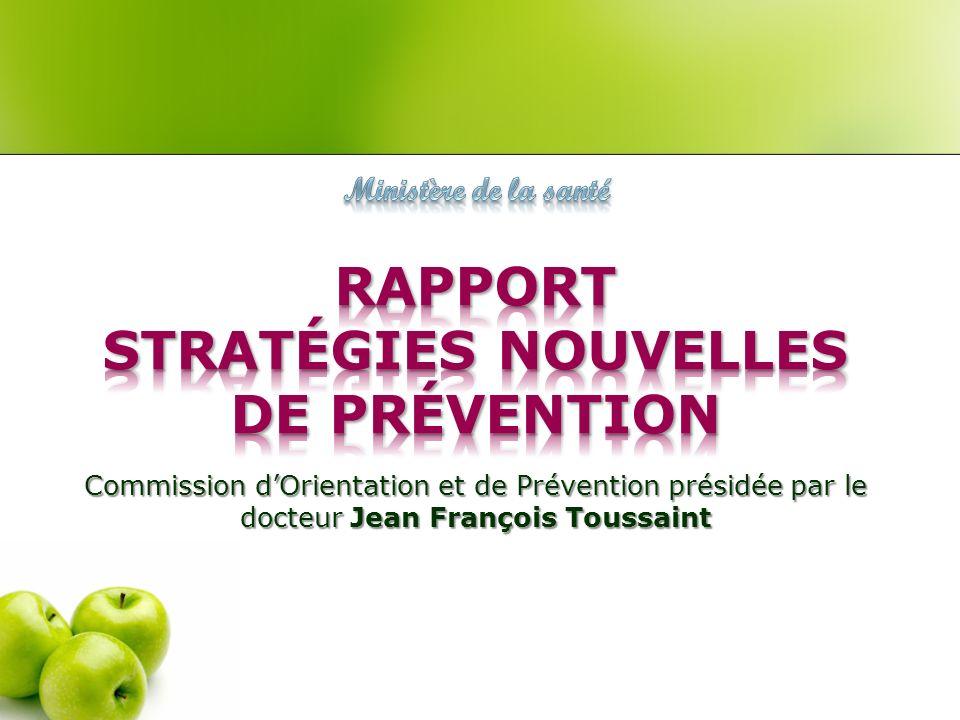 RAPPORT Stratégies nouvelles de prévention