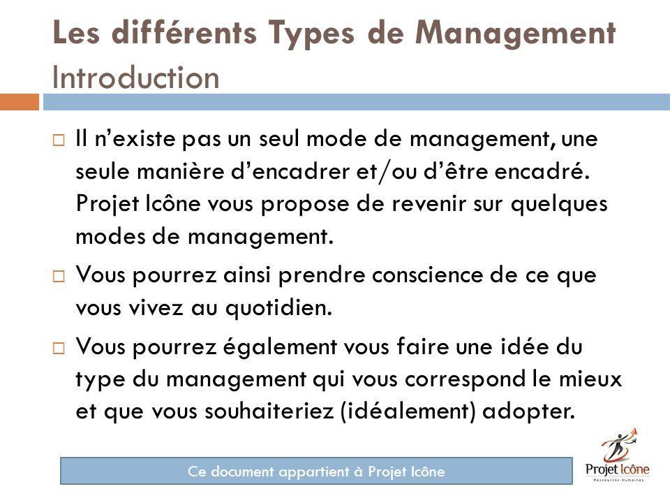 Les différents Types de Management Introduction