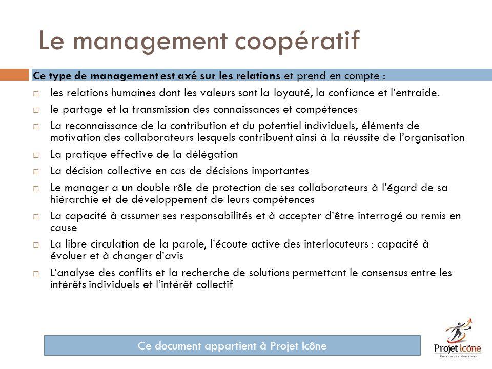 Le management coopératif
