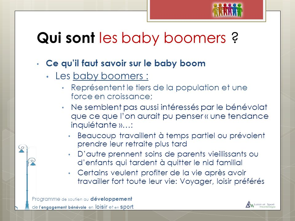 Qui sont les baby boomers