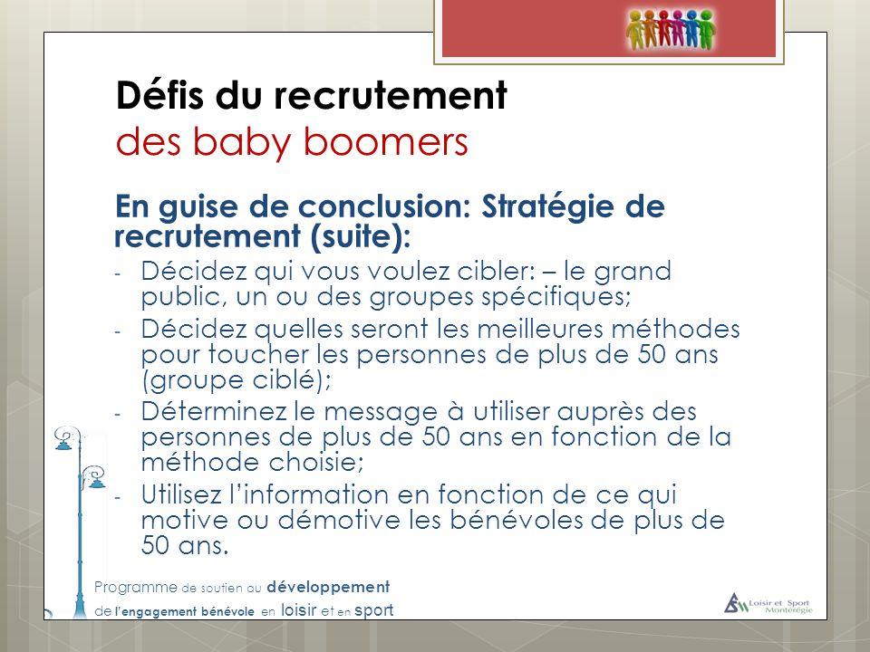 Défis du recrutement des baby boomers