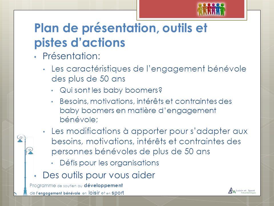 Plan de présentation, outils et pistes d'actions