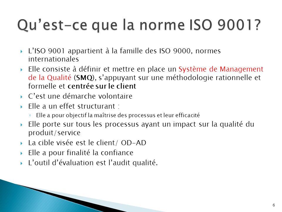 Qu'est-ce que la norme ISO 9001